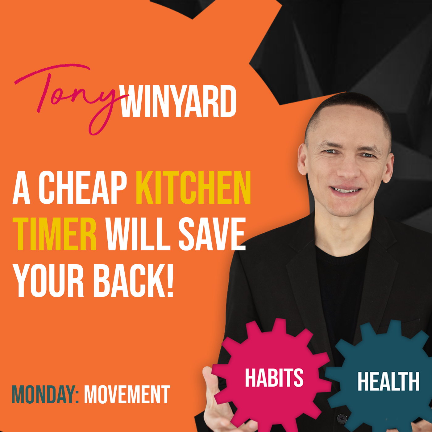 A cheap kitchen timer will save your back!