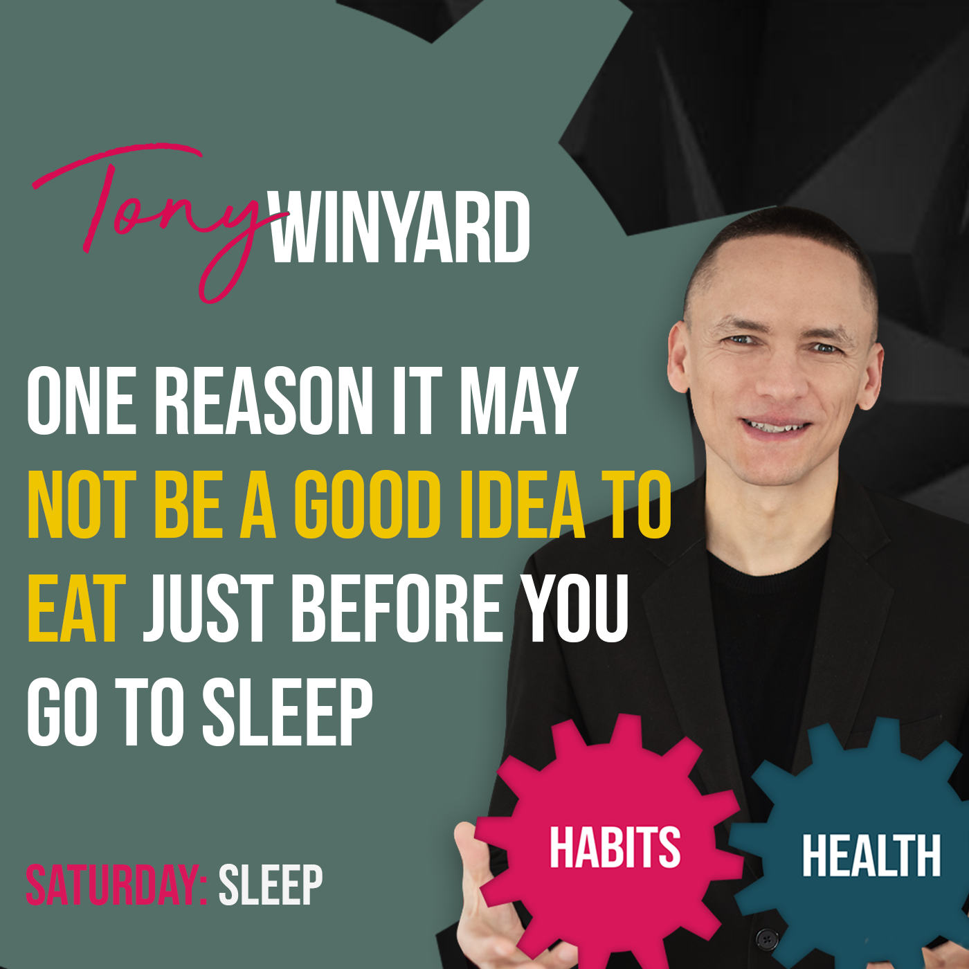 One reason it may not be a good idea to eat just before you go to sleep