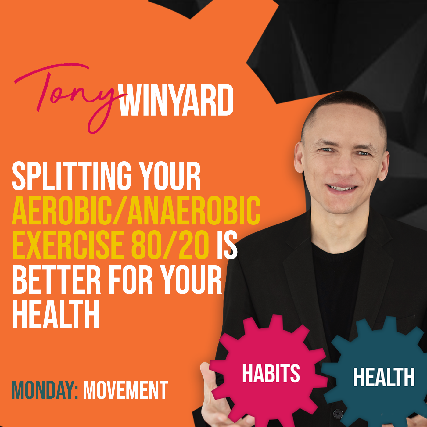 Splitting your aerobic-anaerobic exercise 80-20 is better for your health
