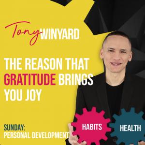 The reason that gratitude brings you joy