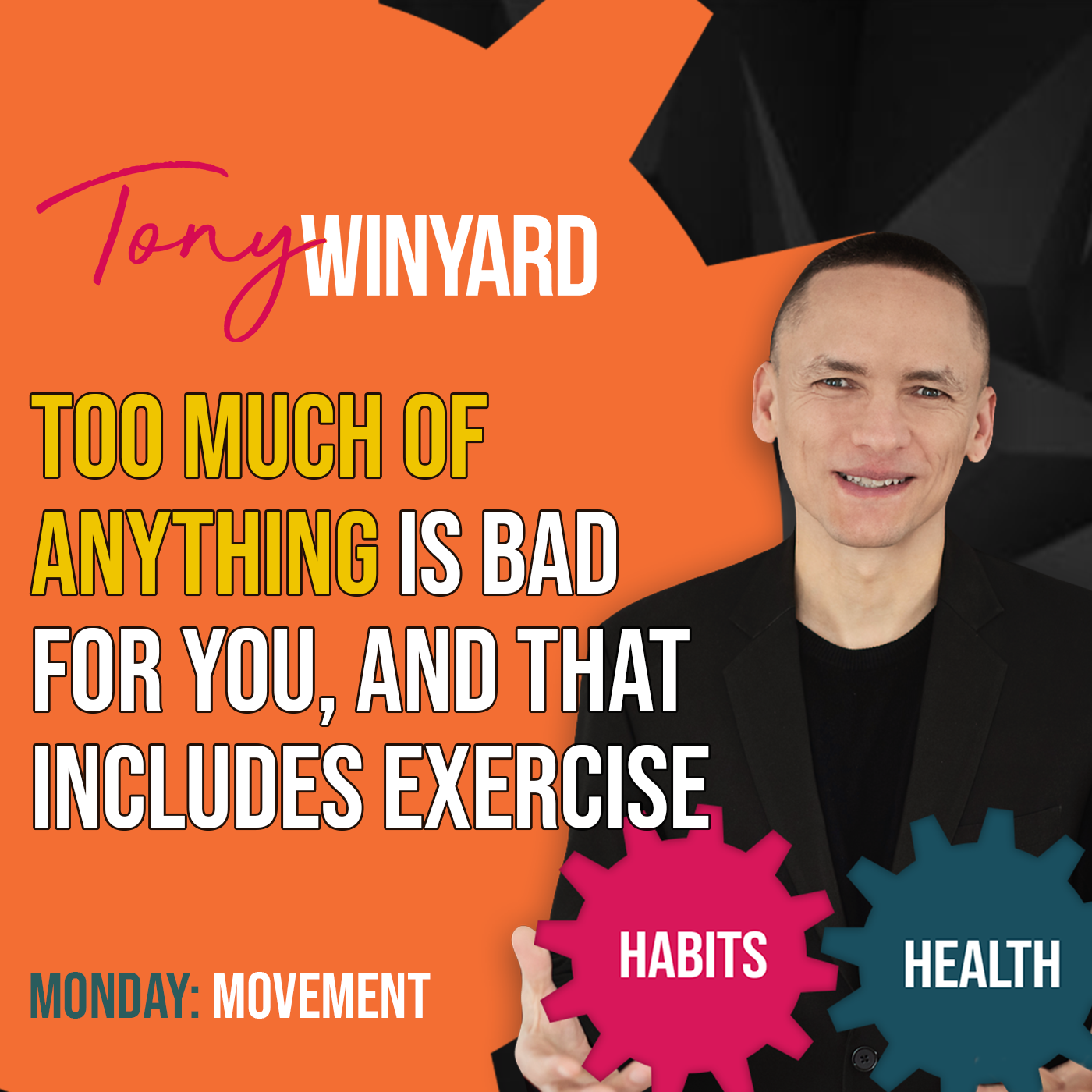 Too much of anything is bad for you, and that includes exercise